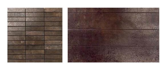 Detalle ejemplos de la colección Metal Titanium de Apavisa