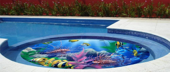 Vinilos decorativos para piscinas