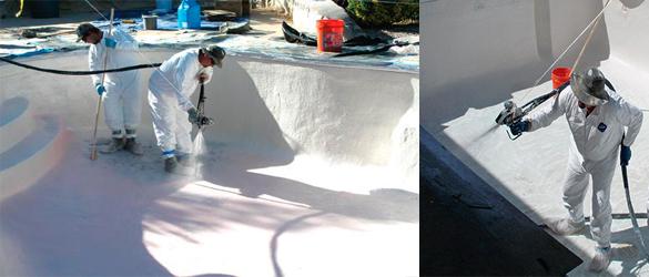 Rehabilitación piscina mediante fibra de vidrio