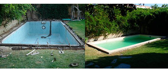 Rehabilitación piscina mediante lámina armada
