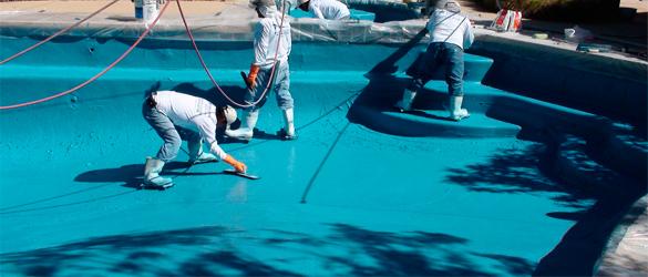 Rehabilitación piscina mediante revestimiento continuo